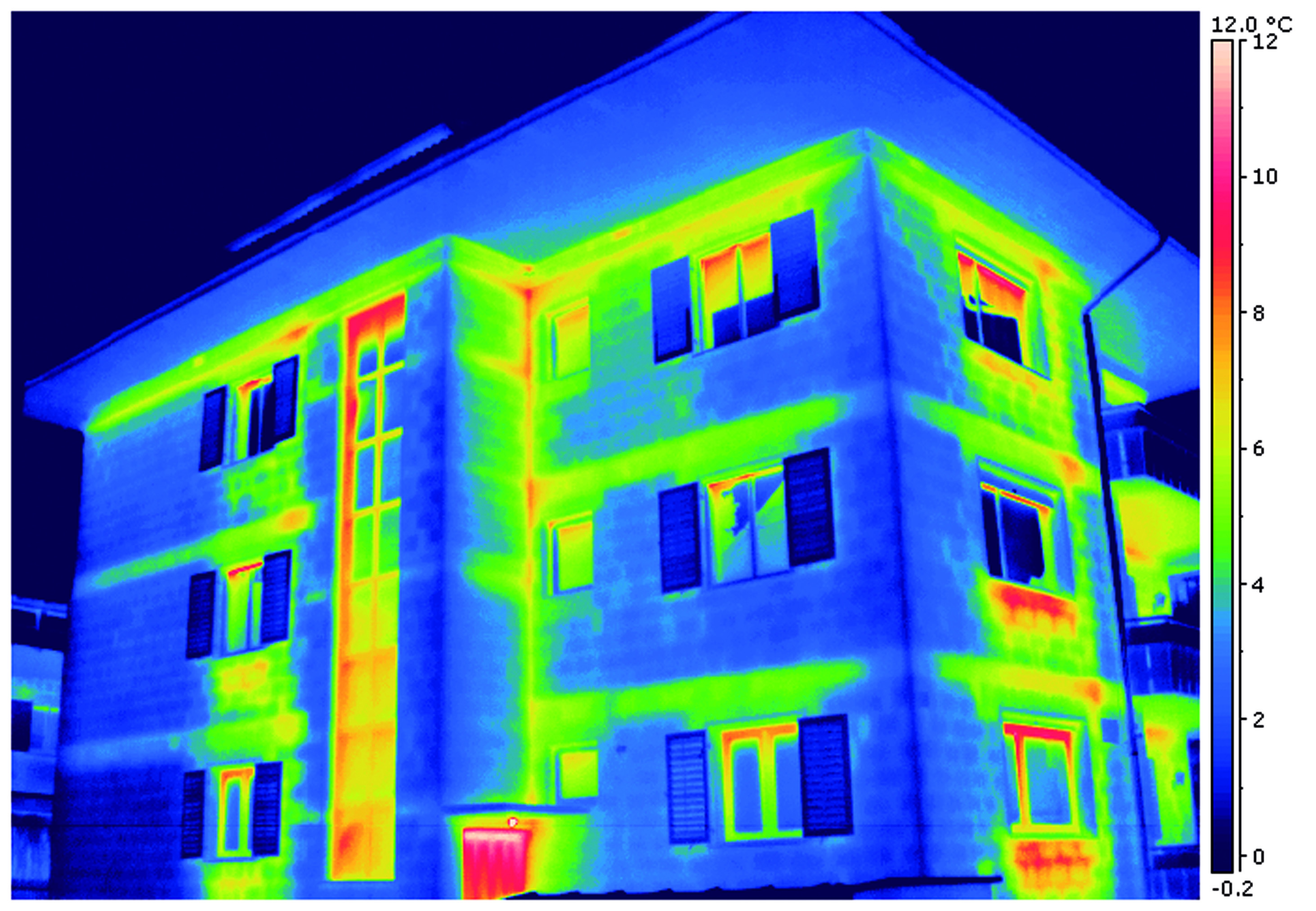 Großes Haus Thermografie